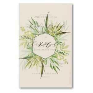 Translucent Botanicals in Ecru Wedding Invitation Icon