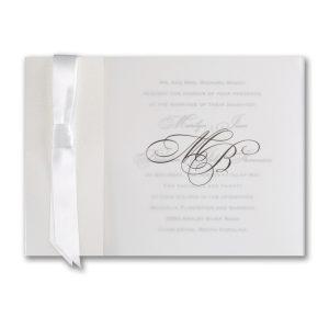 Translucent Shimmer Wedding Invitation
