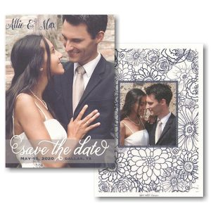 Transparent Band Overlay Photo Save the Date Card