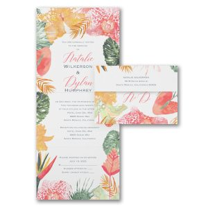 Tropical Menagerie Seal 'n Send Wedding Invitation Icon