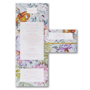 Tropical Paradise Seal 'n Send Wedding Invitation Icon