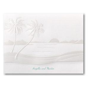 Tropical Sunset Wedding Invitation Icon