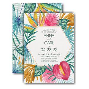 Tropical Treasures Wedding Invitation Icon