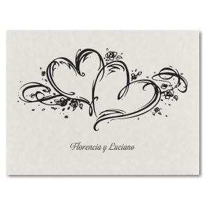 Two Hearts Wedding Invitation Icon