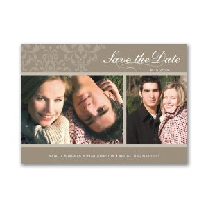 Two Photo Save the Date Magnet