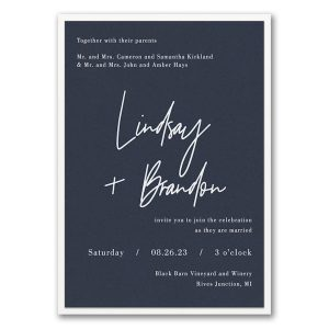 Typography Expression Layered Wedding Invitation Icon