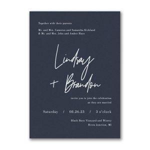 Typography Expression Wedding Invitation Icon