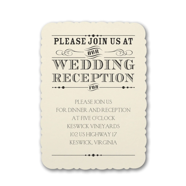 Typography Inspiration Reception Card