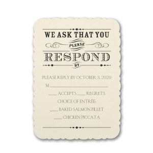 Typography Inspiration Response Card