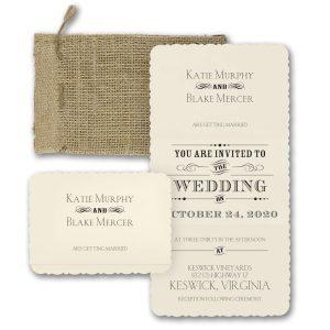 Typography Inspiration Wedding Invitation