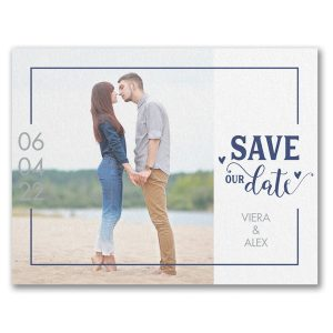Unique Affection Save the Date Card