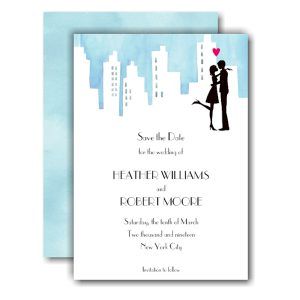 Urban Destination Save the Date Card Icon