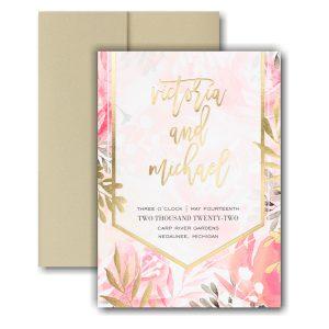 Vibrant Botanicals Pocket Wedding Invitation Icon