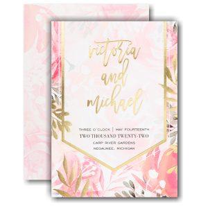 Vibrant Botanicals Wedding Invitation Icon