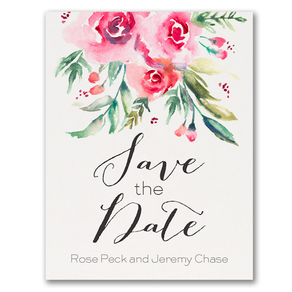 Vibrant Floral Save the Date Postcard