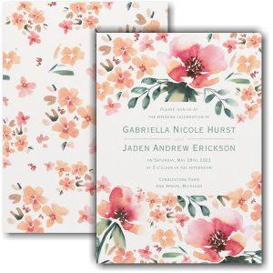 Vibrant Flowers Wedding Invitation Icon