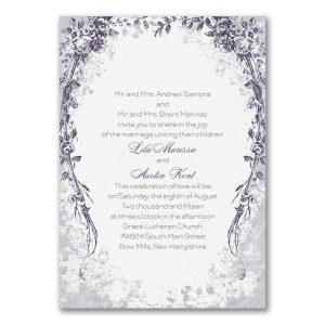 Vintage Garland Wedding Invitation Icon
