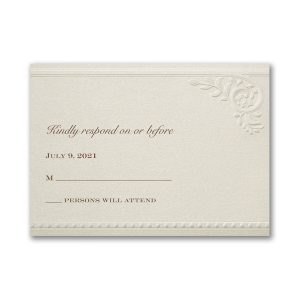 Vintage Pearls and Lace Pocket Response Card