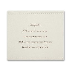 Vintage Pearls and Lace Reception Card