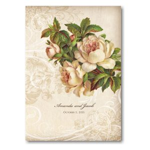 Vintage Roses Wedding Invitation Icon