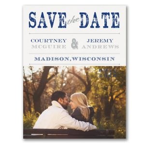 Vintage Stamp Save the Date Card