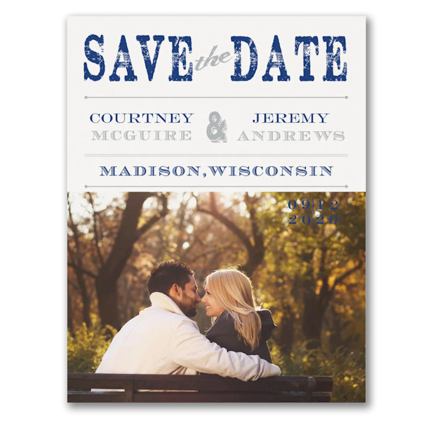 Vintage Stamp Save the Date Card Icon