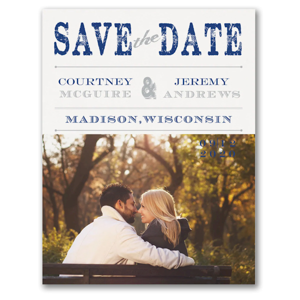 Vintage Stamp Save the Date Magnet Icon