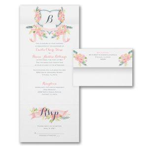Visions of Spring Seal 'n Send Wedding Invitation Icon