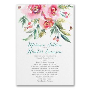 Watercolor Beauty in Pink Wedding Invitation Icon