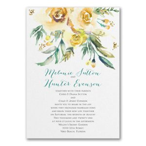 Watercolor Beauty in Yellow Wedding Invitation Icon