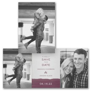 Watercolor Block Save the Date Card