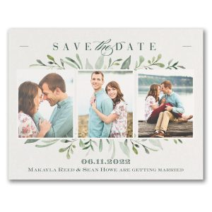 Watercolor Greenery Save the Date Card Icon