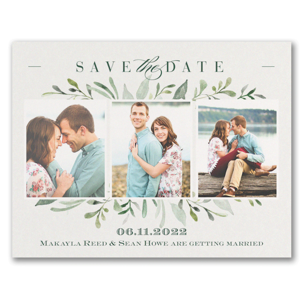 Watercolor Greenery Save the Date Magnet