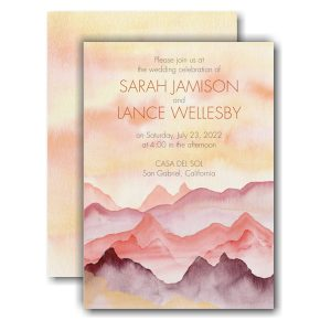 Watercolor Mountains Wedding Invitation Icon