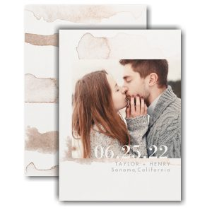 Watercolor Splotch Save the Date Card Icon