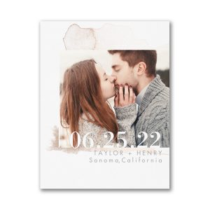 Watercolor Splotch Small Save the Date Card