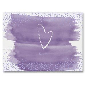 Watercolor Wash Save the Date Card alt