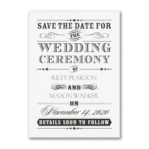 Wedding Day Declaration Save the Date Card Icon
