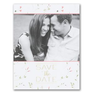 Whimsical Romance Save the Date Postcard
