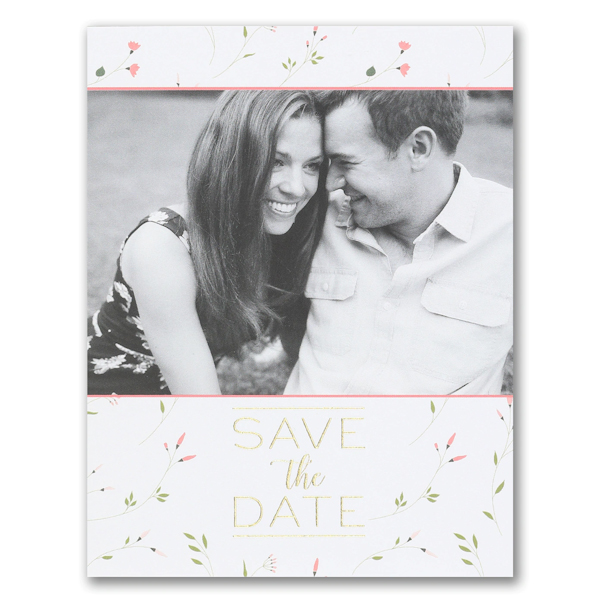 Whimsical Romance Save the Date Postcard Icon