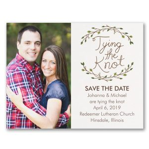 Whimsical Rustic Photo Save the Date Card Icon