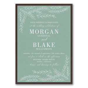 Whimsical Sprigs Layered Wedding Invitation Icon