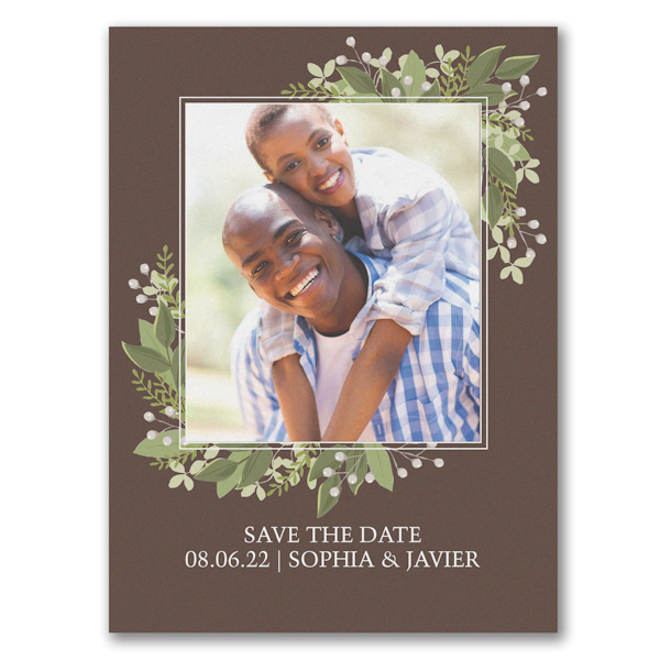 Whimsical Vines Save the Date Card