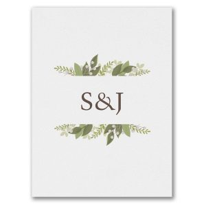 Whimsical Vines Save the Date Card alt