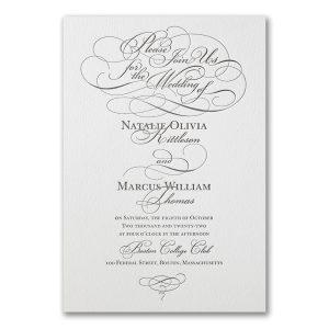 Whirlwind Romance Letterpress Wedding Invitation Icon