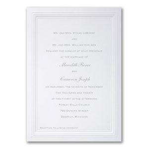 White Paneled Wedding Invitation Icon
