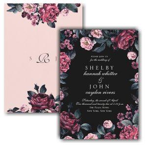 Winter Floral Wedding Invitation Icon
