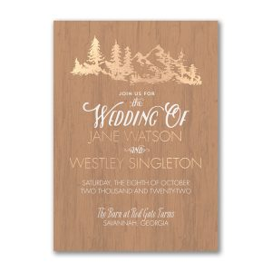 Wooden Wonder Wedding Invitation Icon
