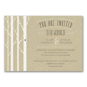 Woodsy Celebration Wedding Invitation Icon