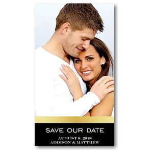 Wrapped in Gold Save the Date Magnet Icon